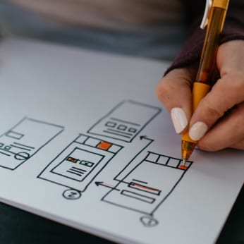 Web Designer Section stock photo